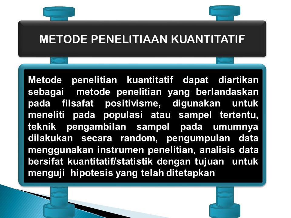 METODE PENELITIAAN KUANTITATIF