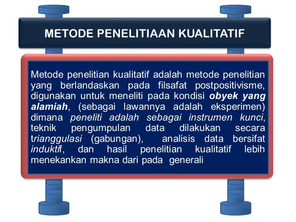 METODE PENELITIAAN KUALITATIF