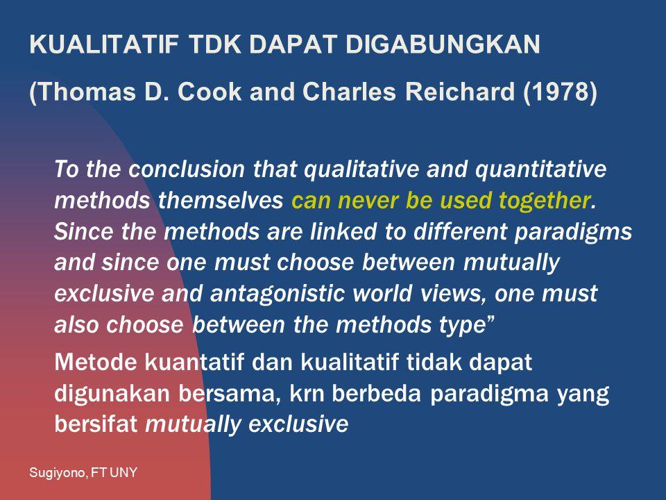 KUALITATIF TDK DAPAT DIGABUNGKAN (Thomas D