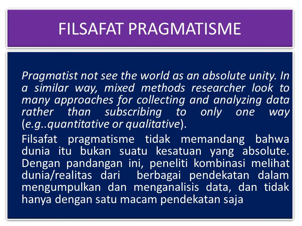 FILSAFAT PRAGMATISME