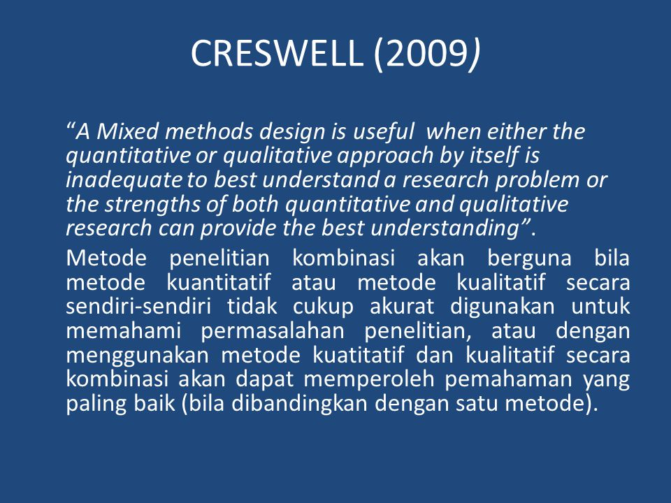CRESWELL (2009)