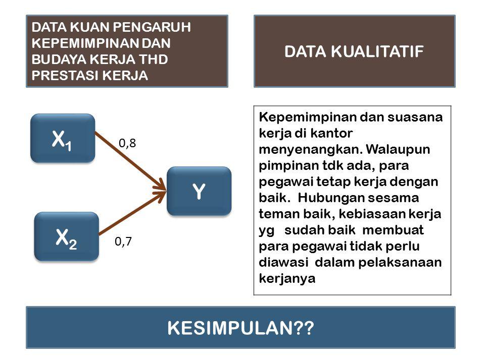 X1 Y X2 KESIMPULAN DATA KUALITATIF