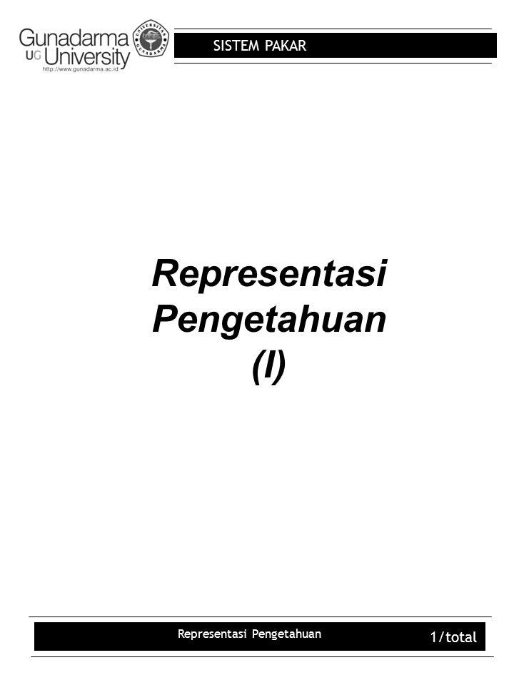 Representasi Pengetahuan (I)