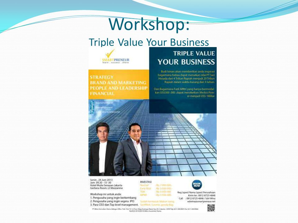 Workshop: Triple Value Your Business