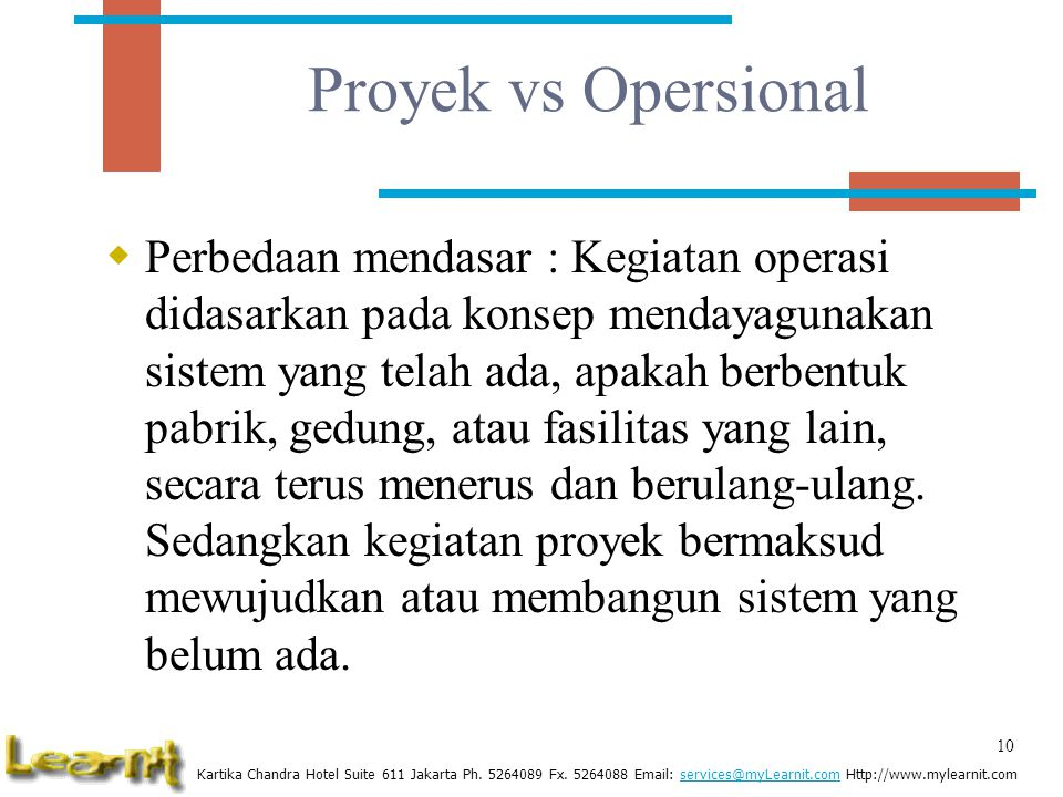 Proyek vs Opersional