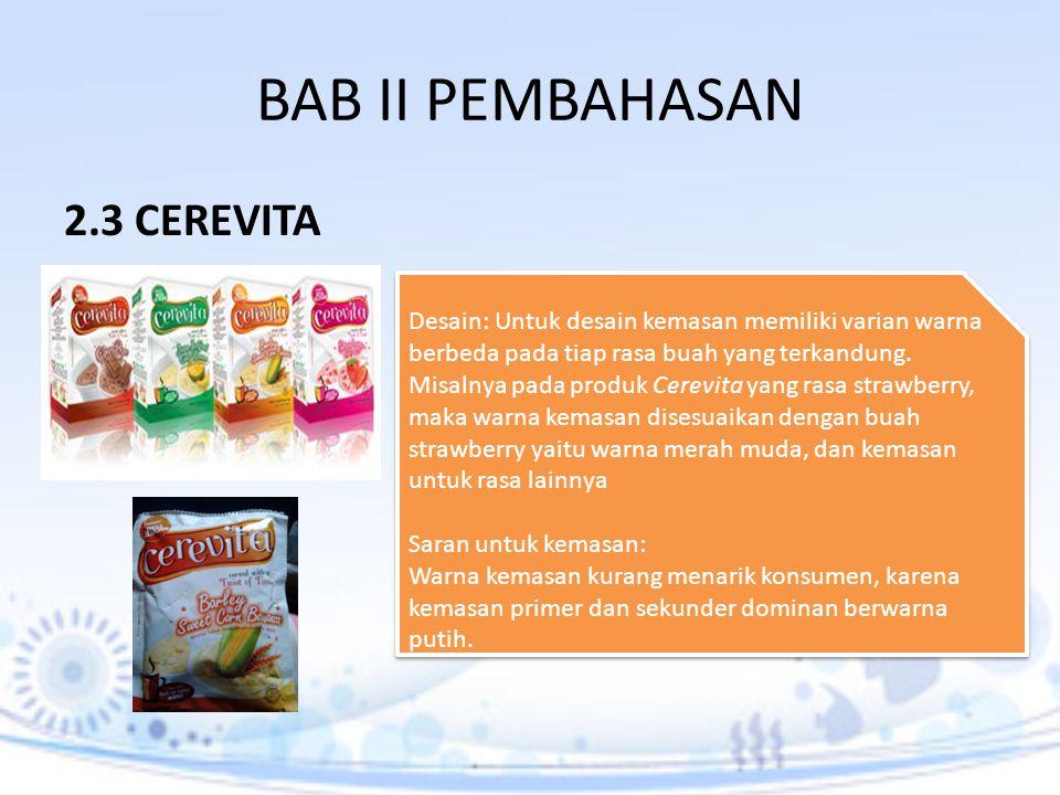 BAB II PEMBAHASAN 2.3 CEREVITA