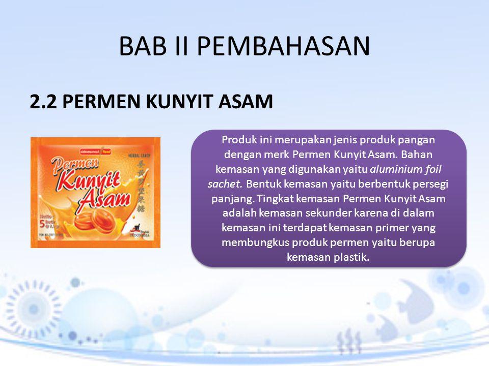 BAB II PEMBAHASAN 2.2 PERMEN KUNYIT ASAM