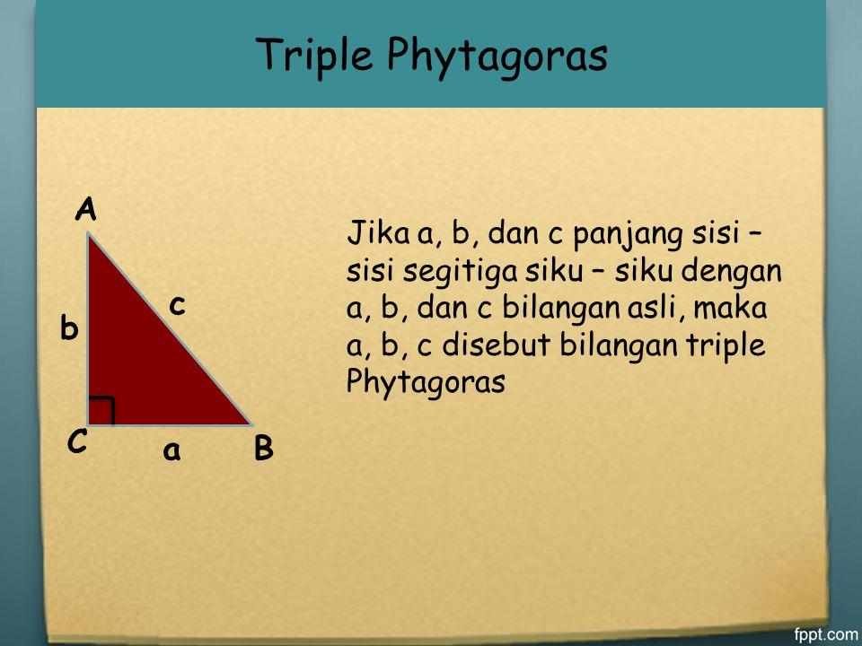Triple Phytagoras A B C a b c