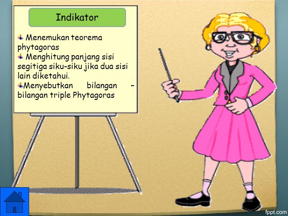 Indikator Menemukan teorema phytagoras