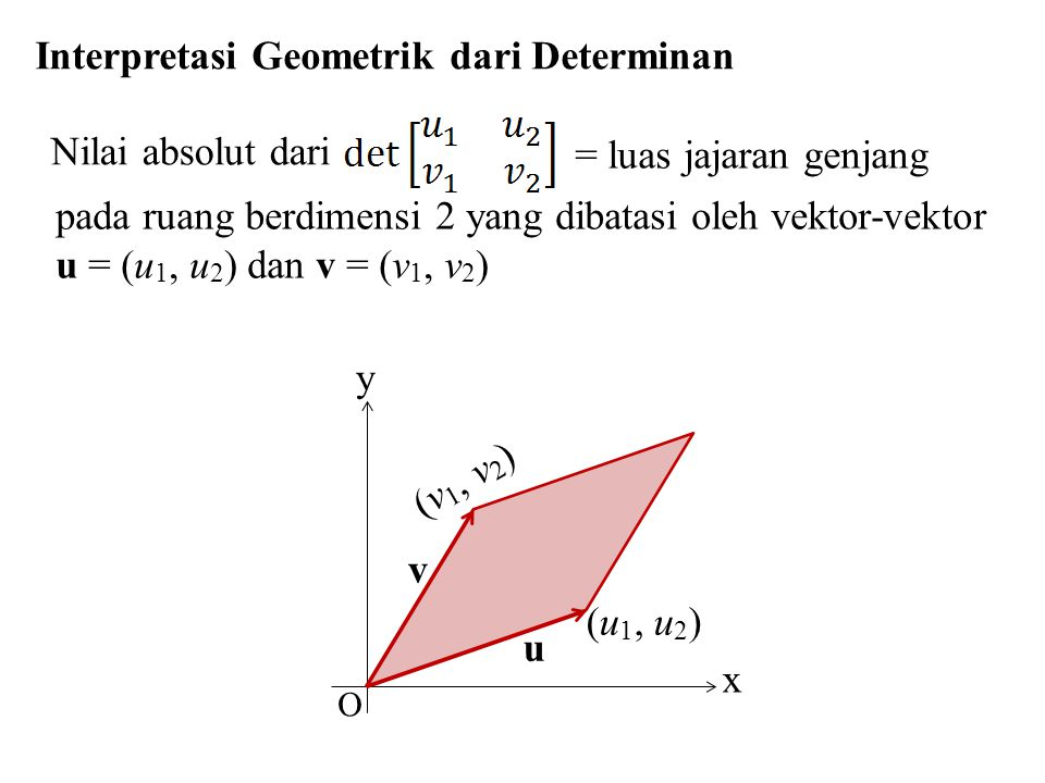 Interpretasi Geometrik dari Determinan