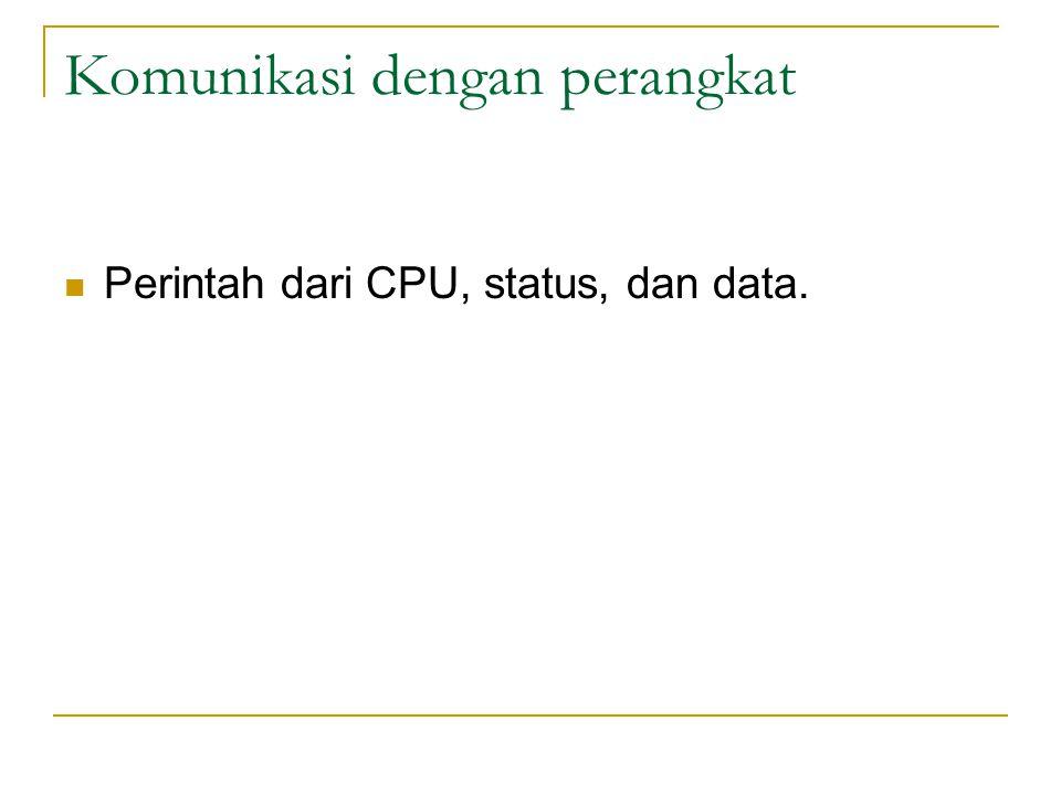 Komunikasi dengan perangkat