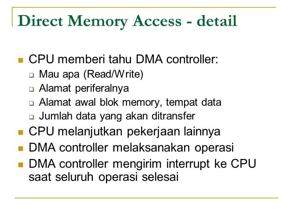 Direct Memory Access - detail