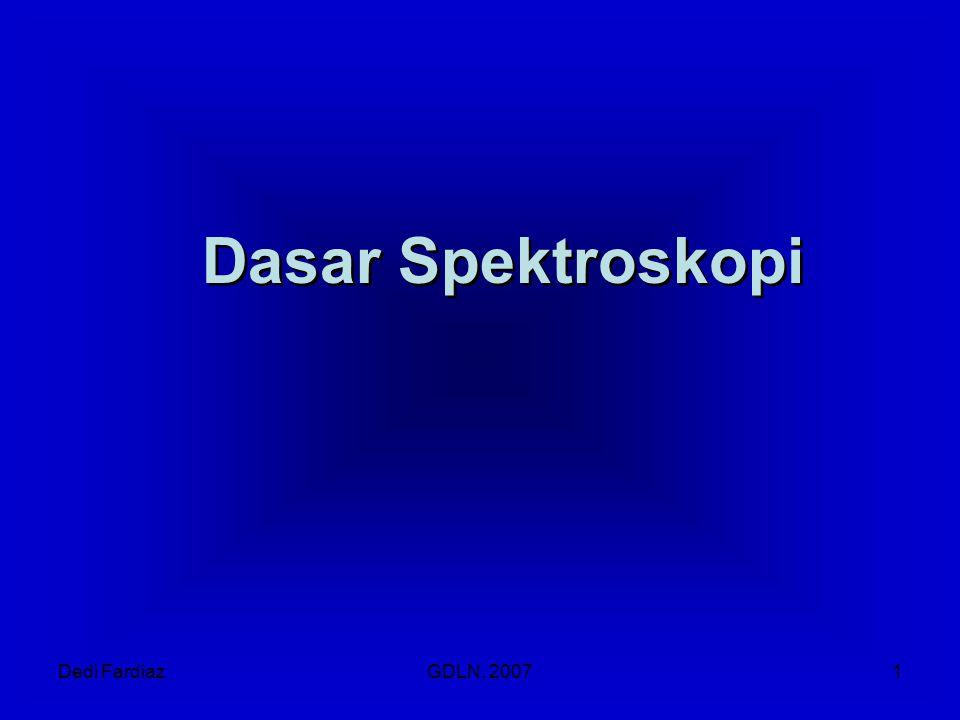 Dasar Spektroskopi Dedi Fardiaz GDLN, 2007