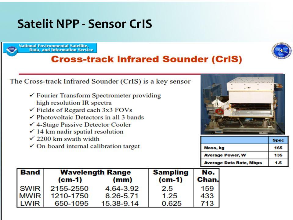 Satelit NPP - Sensor CrIS