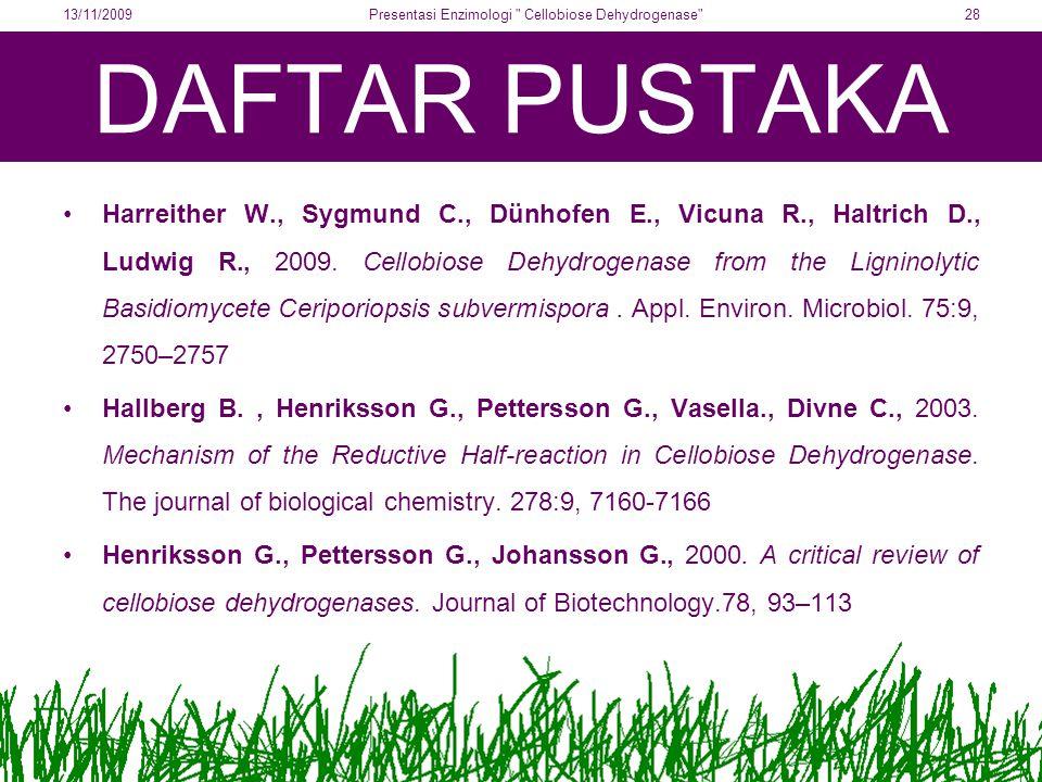 Presentasi Enzimologi Cellobiose Dehydrogenase