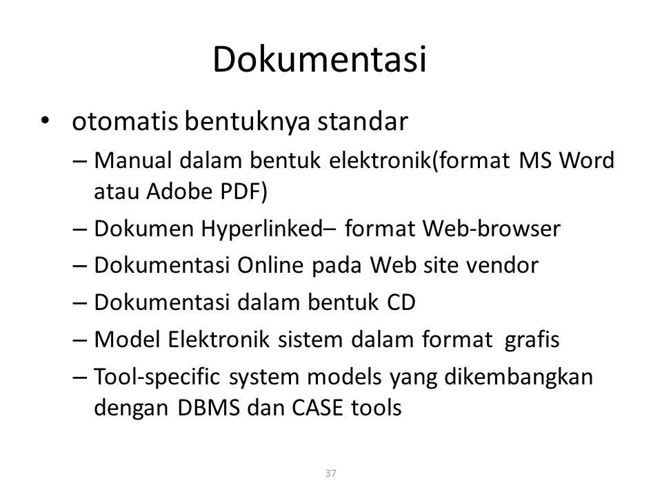Dokumentasi otomatis bentuknya standar