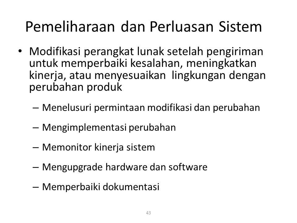 Pemeliharaan dan Perluasan Sistem