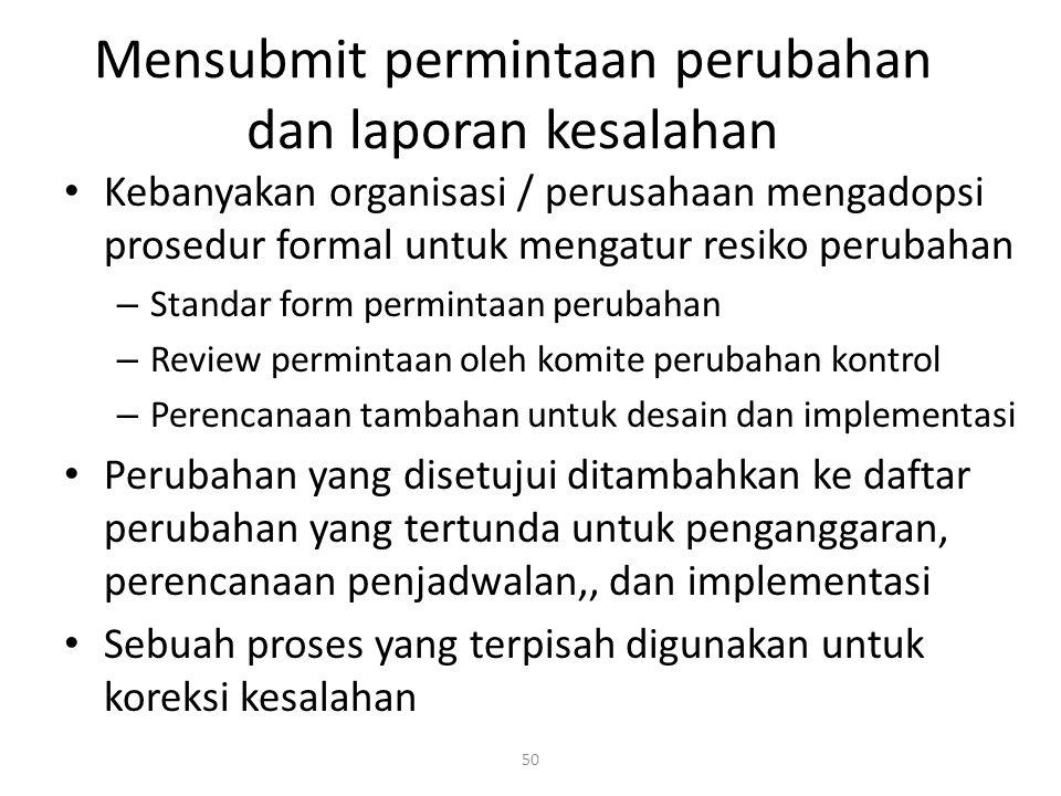 Mensubmit permintaan perubahan dan laporan kesalahan