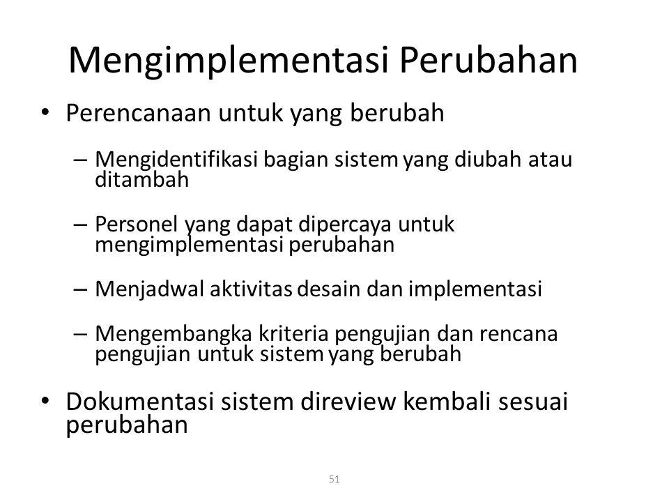 Mengimplementasi Perubahan