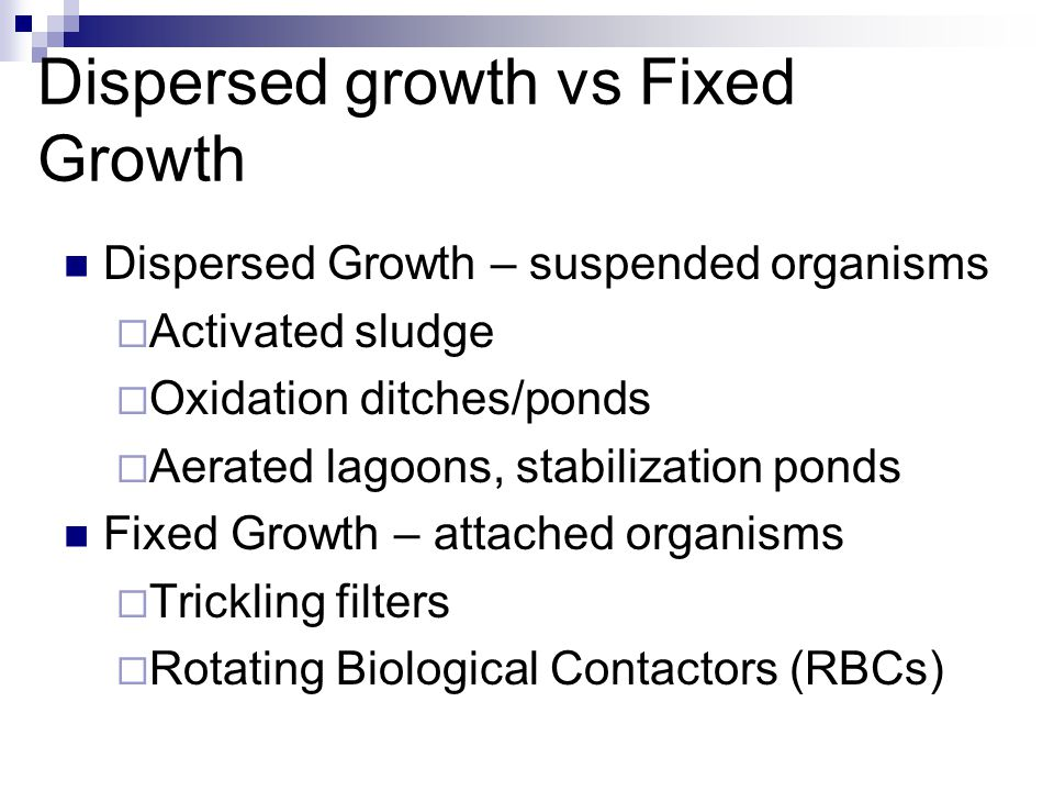 Dispersed growth vs Fixed Growth