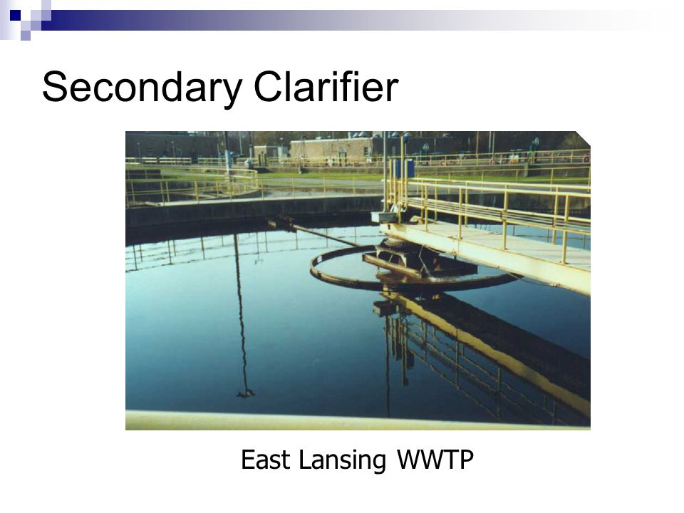 Secondary Clarifier East Lansing WWTP
