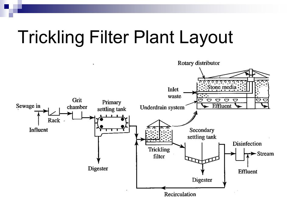 Trickling Filter Plant Layout
