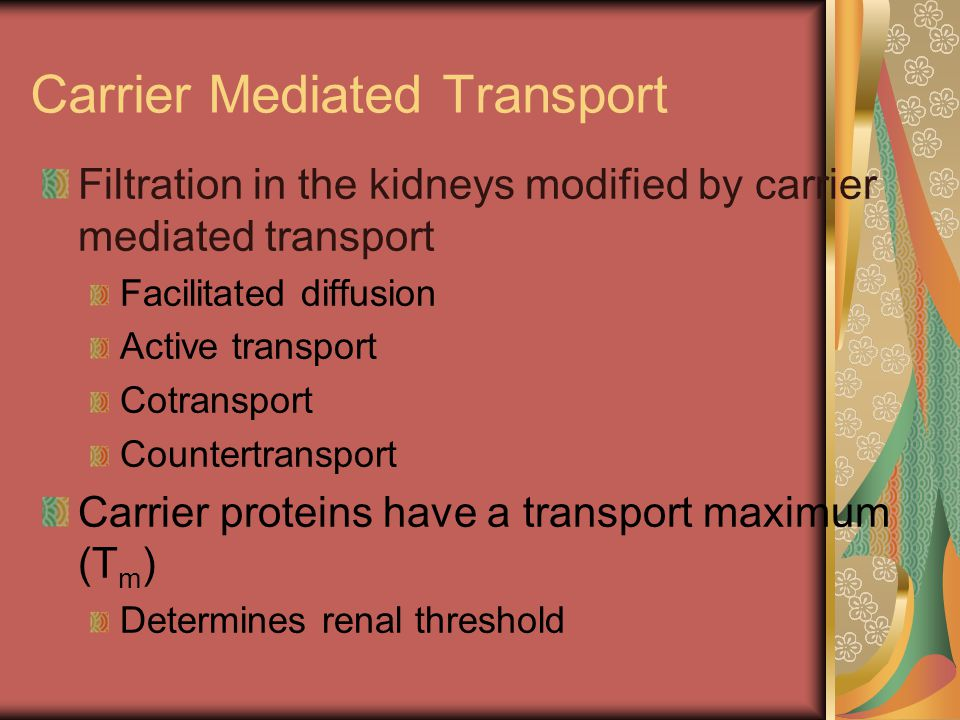 Carrier Mediated Transport