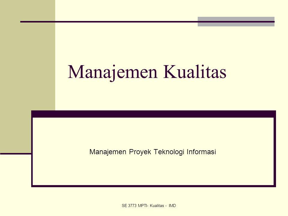 Manajemen Proyek Teknologi Informasi