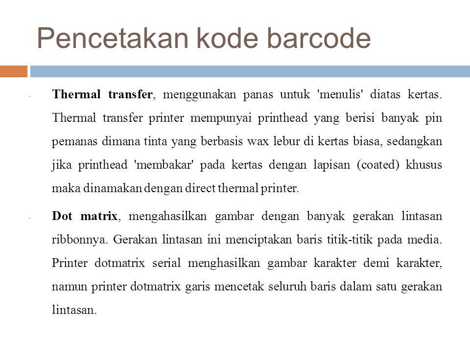 Pencetakan kode barcode