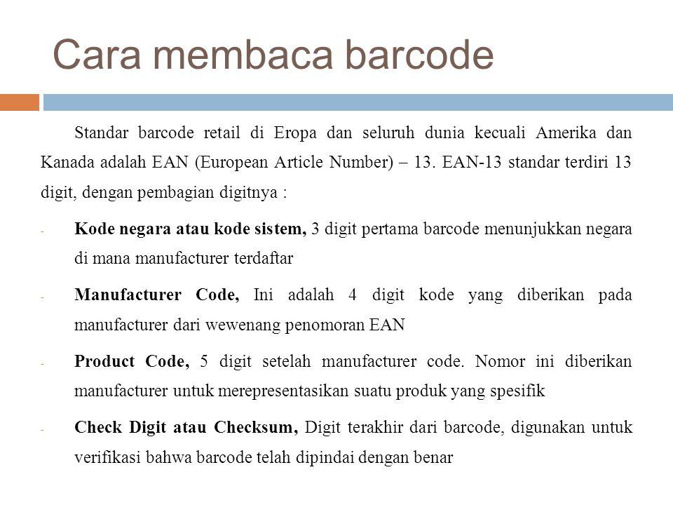 Cara membaca barcode