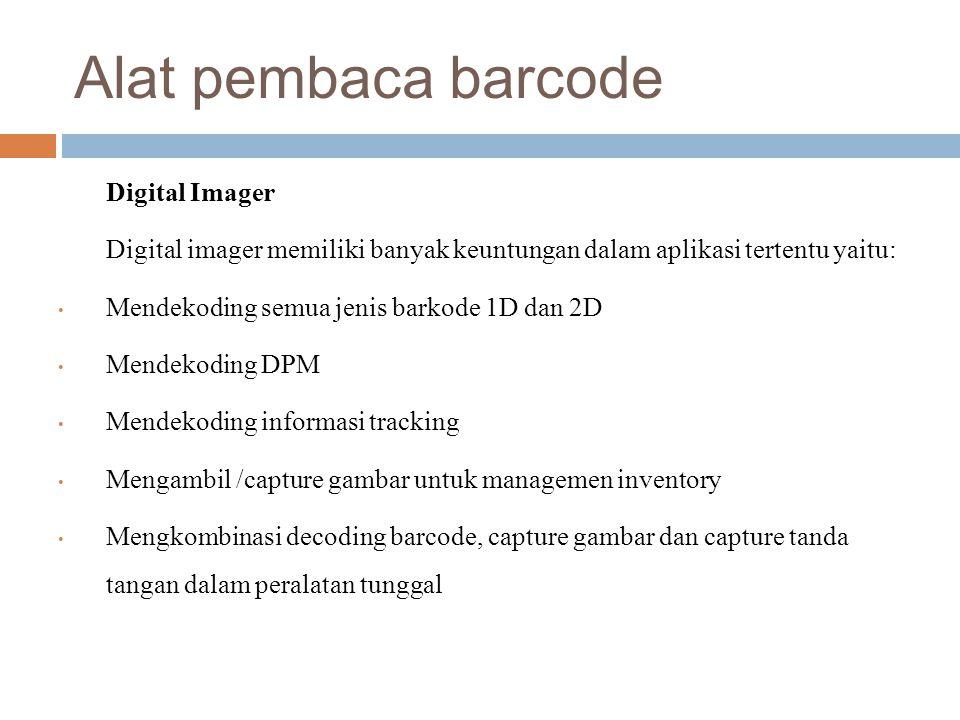 Alat pembaca barcode Digital Imager