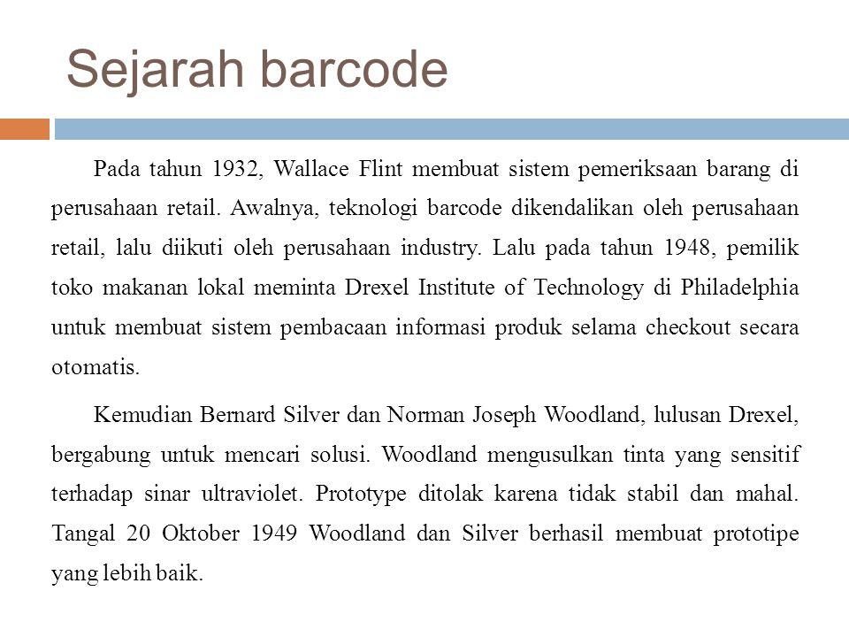 Sejarah barcode
