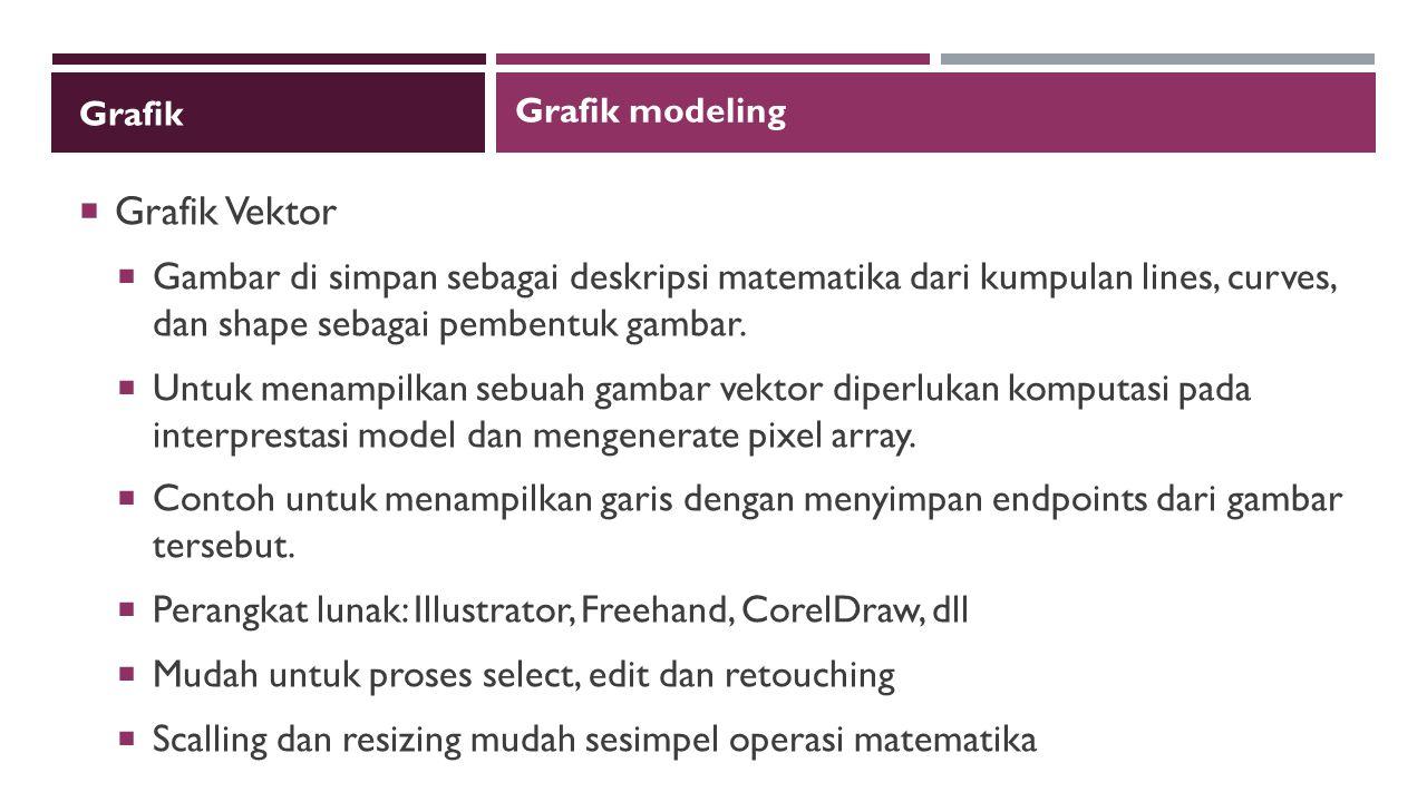 Grafik Grafik modeling. Grafik Vektor.