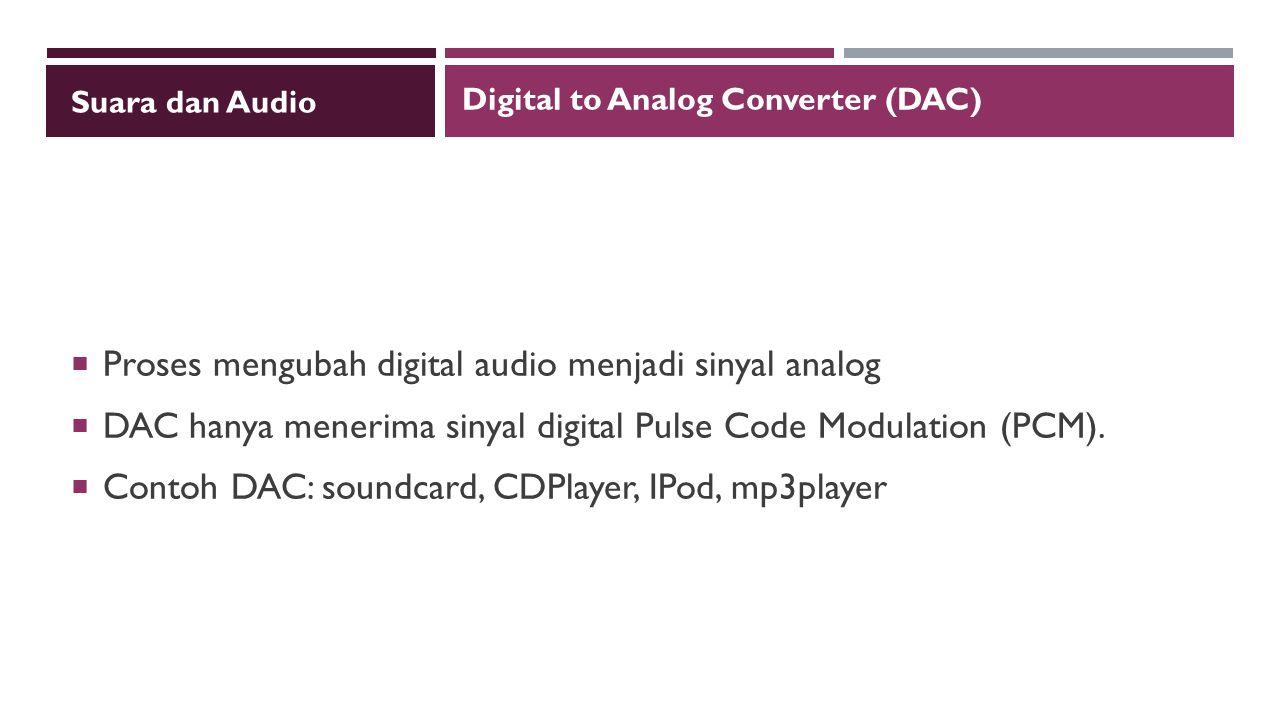 Proses mengubah digital audio menjadi sinyal analog
