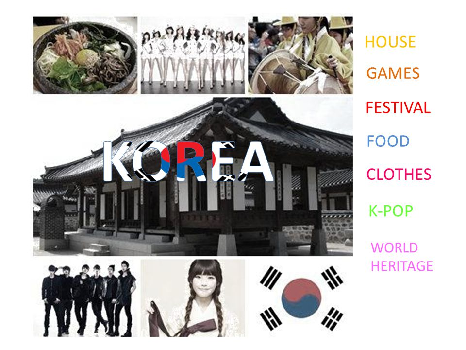 HOUSE GAMES FESTIVAL KOREA FOOD CLOTHES K-POP WORLD HERITAGE