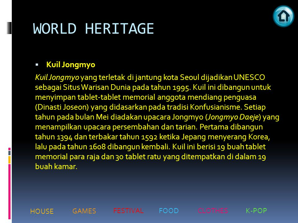 WORLD HERITAGE Kuil Jongmyo
