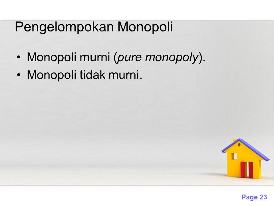 Pengelompokan Monopoli