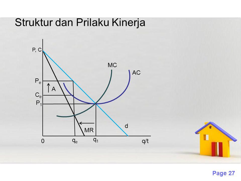 Struktur dan Prilaku Kinerja