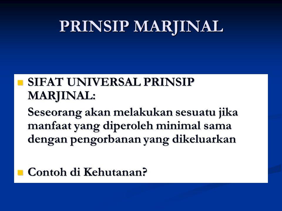 PRINSIP MARJINAL SIFAT UNIVERSAL PRINSIP MARJINAL: