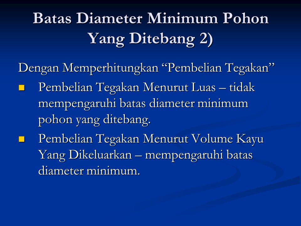 Batas Diameter Minimum Pohon Yang Ditebang 2)