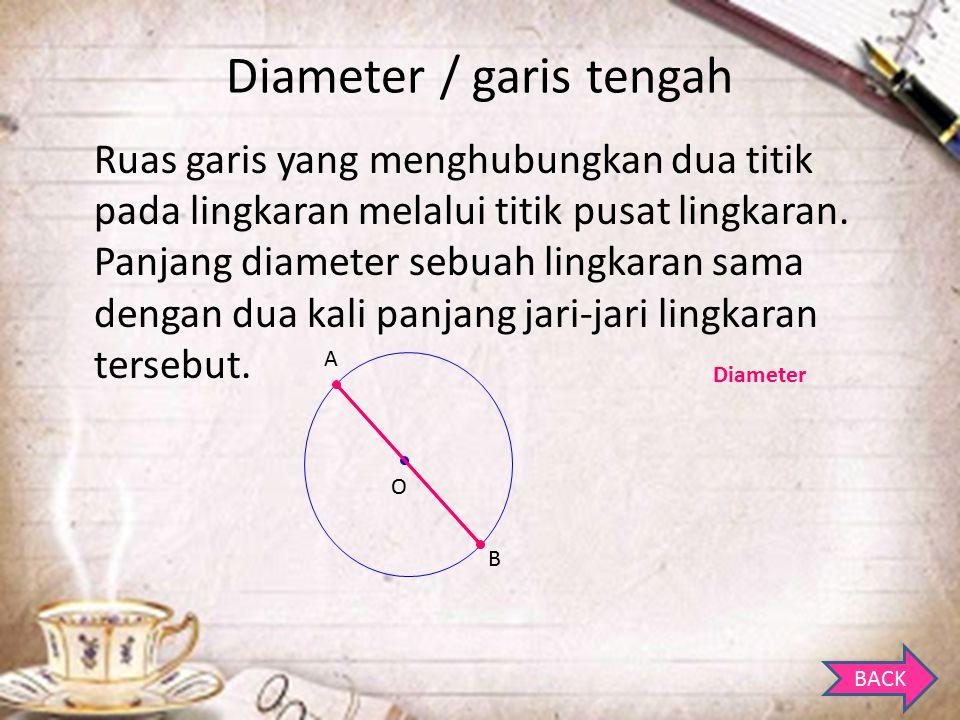 Diameter / garis tengah
