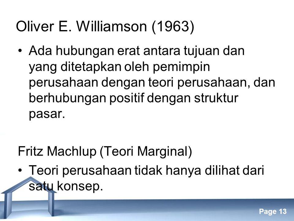 Oliver E. Williamson (1963)