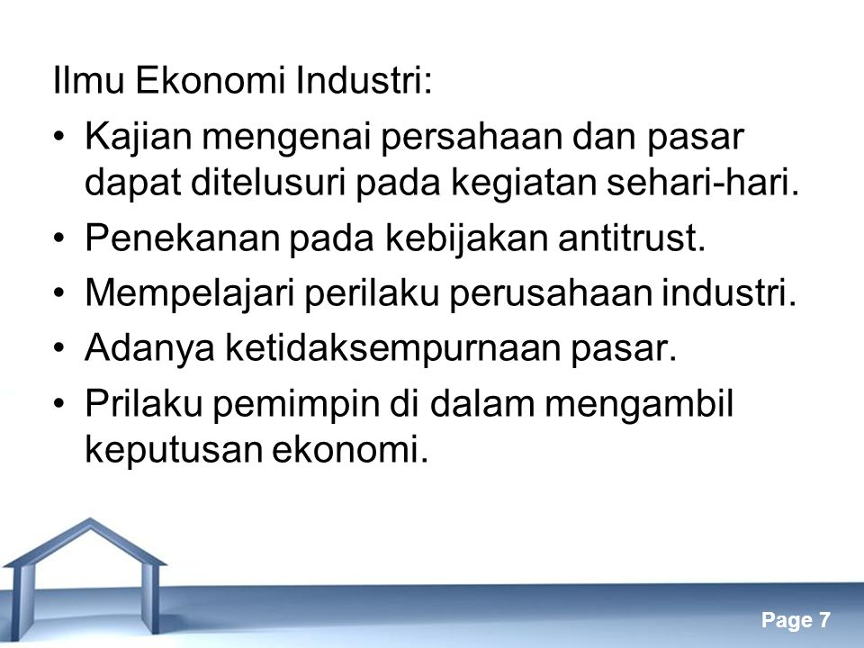Ilmu Ekonomi Industri: