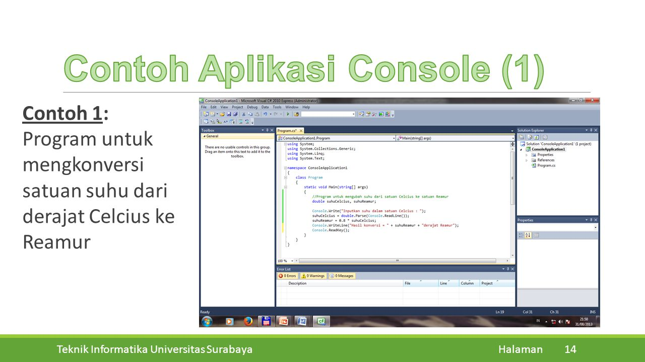 Contoh Aplikasi Console (1)