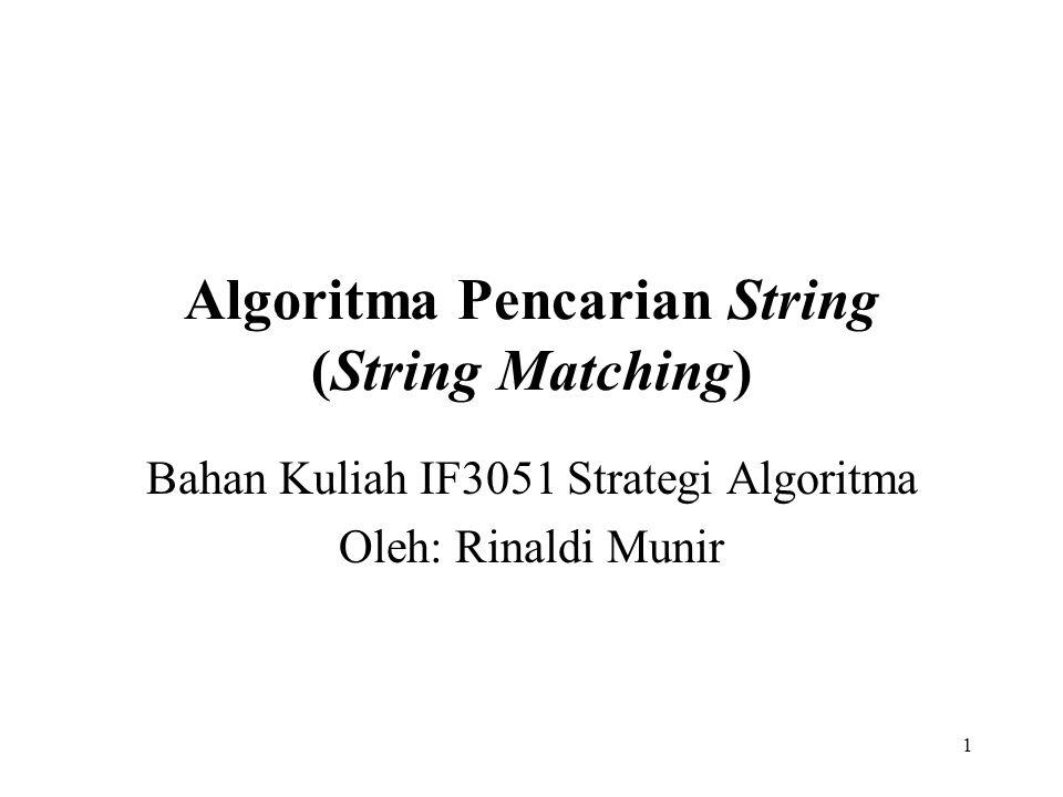 Algoritma Pencarian String (String Matching)