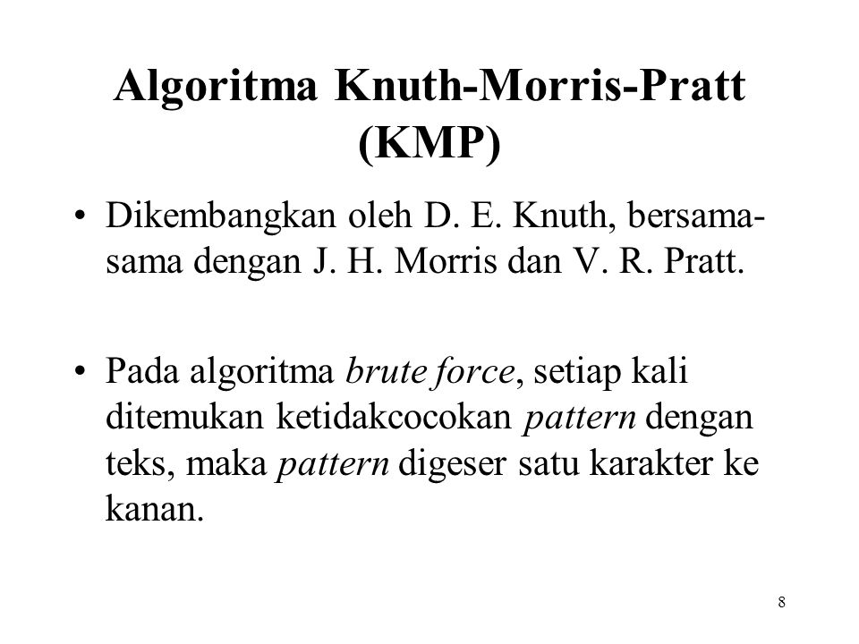 Algoritma Knuth-Morris-Pratt (KMP)