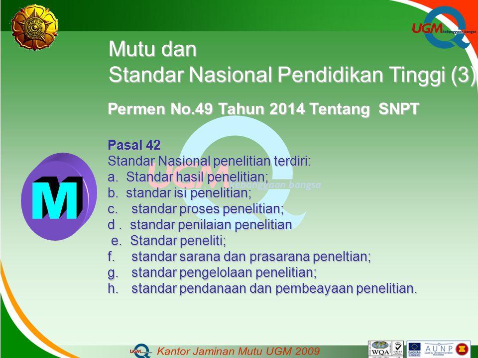 M Mutu dan Standar Nasional Pendidikan Tinggi (3)
