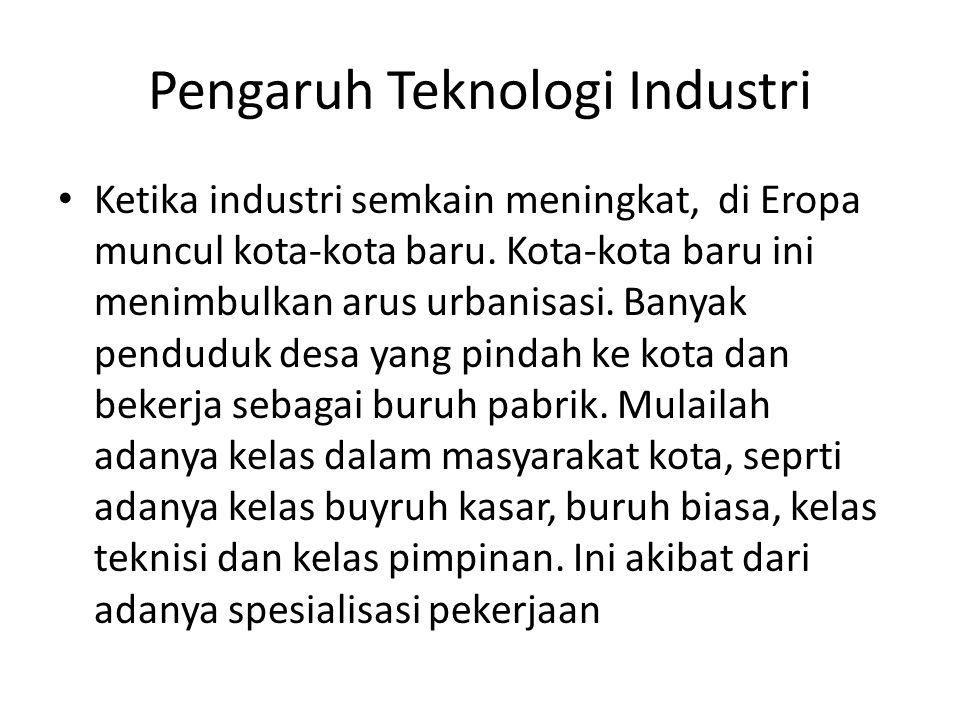 Pengaruh Teknologi Industri