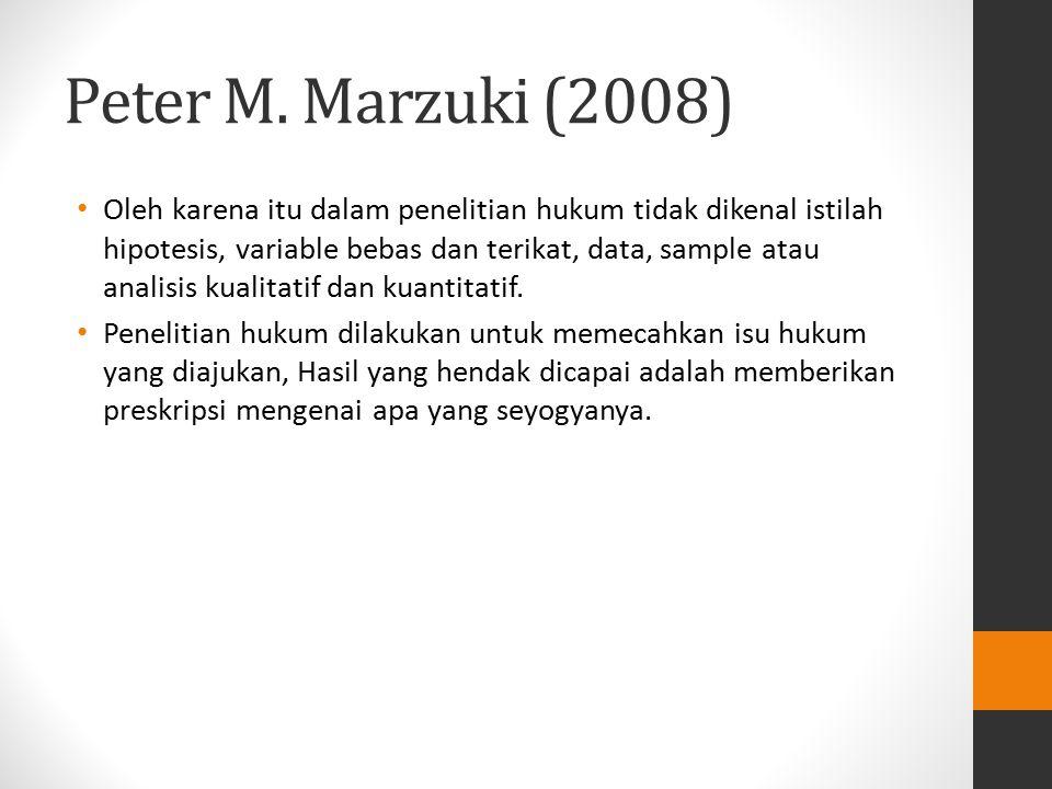Peter M. Marzuki (2008)