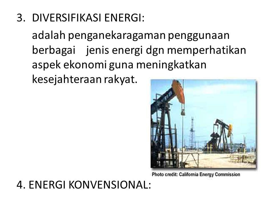 DIVERSIFIKASI ENERGI: